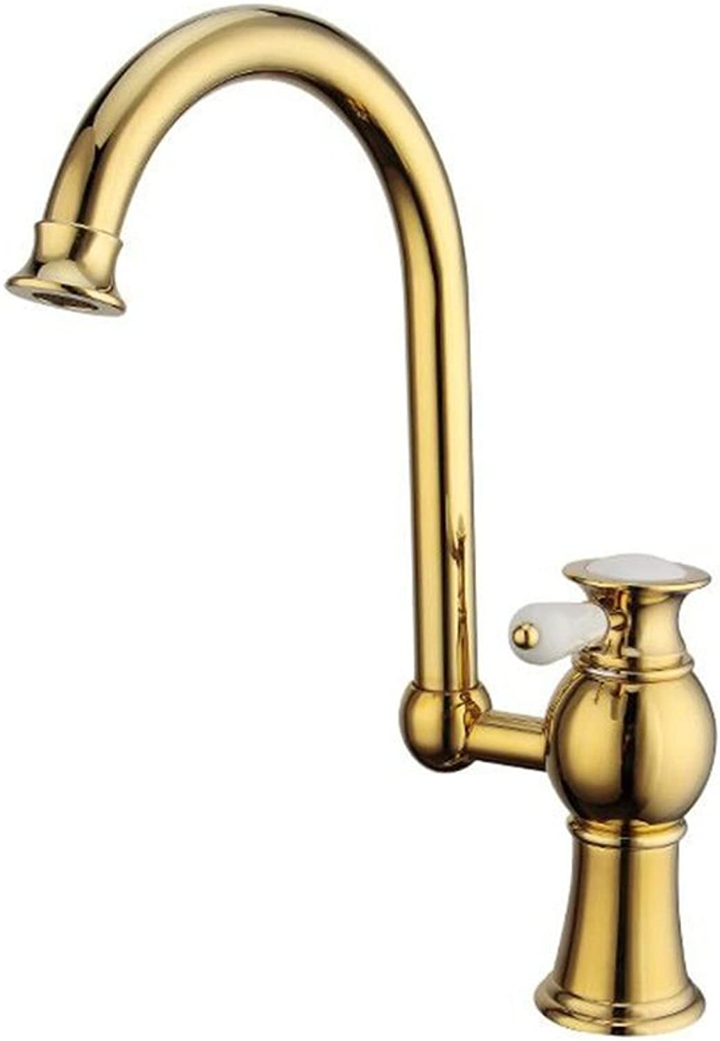 AQMMi Basin Sink Mixer Tap for Lavatory Gilded gold Bathroom Vanity Sink Faucet