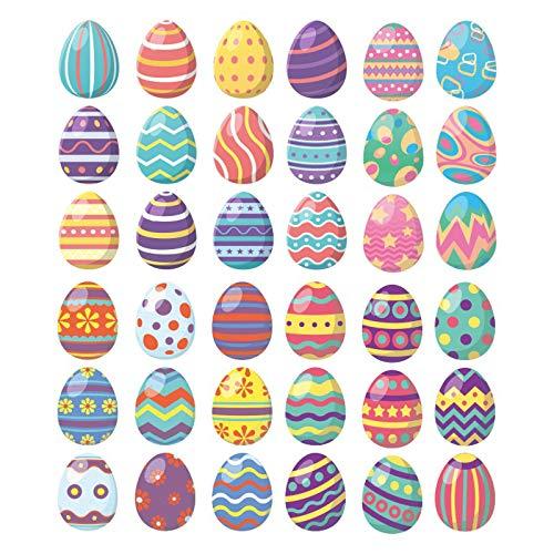 Pegatinas de Pascua, huevos de Pascua, decoración para el hogar, ventanas de vidrio, pegatinas para nevera, decoración para fiestas, paredes, ventanas, decoración del hogar, el mejor regalo