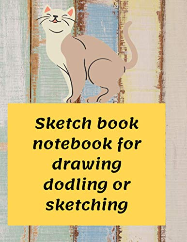 Sketch book notebook for drawing doodling or sketching for cats lover: 8.5×11 inch 21. 59×27.94 cm 100pages drawing notebook batern desinge in mate cover