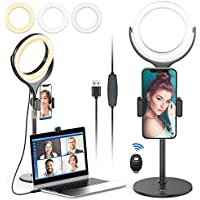 Ulanzi Laptop Selfie Video Conference Desk Light with Stand & Phone Holder