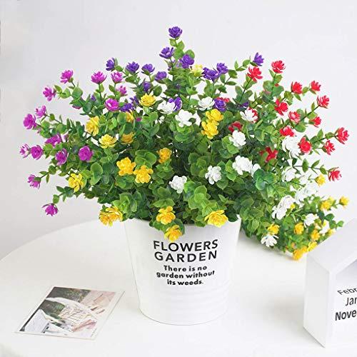 Plastikblumen-Bouquet Home Office Künstliche Blumendekor Hochzeit Garten Gefälschte Blume, Weiß - 3