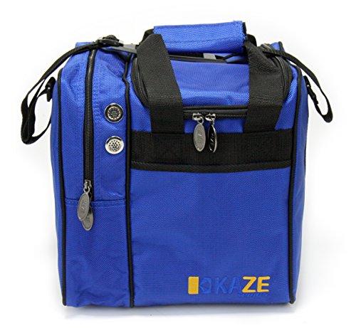 KAZE SPORTS Deluxe Single Ball Bowling Tote Bag (Blue)