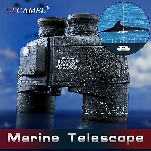 Uscamel 10x50 HD Prismáticos militar con brújula de telémetro Telescopio nuevo