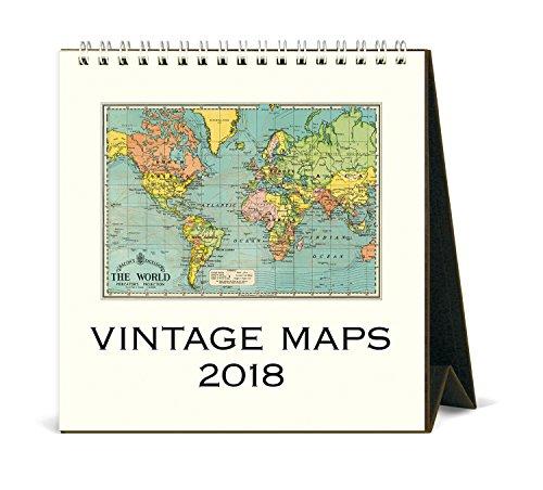 Cavallini Papers & Co. 2018 Vintage Maps Desk Calendar