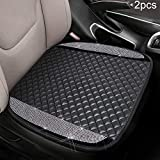 Seametal Bling Car Seat Cover Cushion,Bling Car Accessories for Women 2PACK,Rhinestone Bottom Car Seat Protector Pad (White)