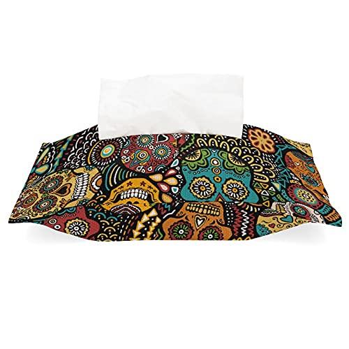 Tissue Bag Holders Tissue Cover Napkin Holder Mexican Sugar Skulls Fabric...