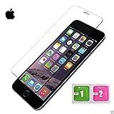 MUNDDY Protector de Pantalla de Cristal Templado para Apple iPhone 0,30 mm, 2.5D Round Edge,[9H Dureza] [Alta Transparencia] [Sin Burbujas] [No Cubre Entera] (1 Protector, iPhone 5 5s)