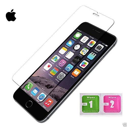MUNDDY Protector de Pantalla de Cristal Templado para Apple iPhone 0,30 mm, 2.5D Round Edge,[9H Dureza] [Alta Transparencia] [Sin Burbujas] [No Cubre Entera] (2 Protectores, iPhone 7 8)