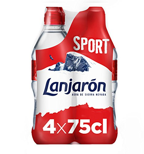 Lanjarón, Agua Mineral Natural con tapón sport - Pack 4 x 75cl