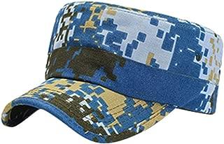 Hat Women Summer Sun Washed Cotton Caps Cadet Caps Unique Design Vintage Flat Top Cap67