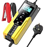 AUTOXEL Car Battery Charger 6V 2A / 12V 6A Smart Automatic Trickle Battery Charger Battery Repair Charger Maintainer with Multiple Protections for Motorcycle/Car Batteries (AGM, GEL, MF, SLA, VRLA)
