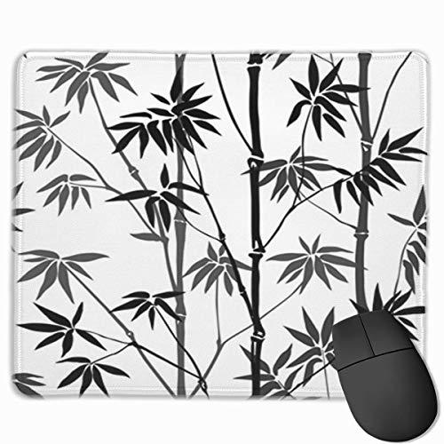 Muiskussen, bureaumuis, muiskussens, muismat bamboe naadloos patroon op witte achtergrond tropisch behang natuur textiel