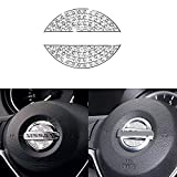 Bling Bling Car Steering Wheel Decorative Diamond Crystal Decal Decoration Cover Sticker Fit For NISSAN,DIY Bling Car Steering Wheel Emblem Accessories for NISSAN maxima,altima,sentra,pathfinder,kicks
