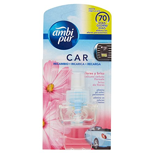 Ambi Pur Car Fresh Escapes Ladekabel Deodorant Zarte Blüten