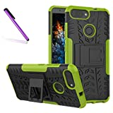 COTDINFORCA Case for OnePlus 5T Tyre Pattern Design Heavy Duty Tough Protection Case with Kickstand Shock Absorbing Detachable 2 in 1 Case Cover for OnePlus 5T (2017). Hyun Green