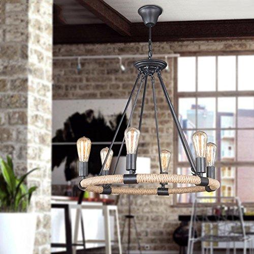 5151BuyWorld kroonluchter retro vintage touw hanglamp lamp loft creatieve persoonlijkheid industriële lamp Edison-lamp American Style voor woonkamer woonkamer slaapkamer eetkamer kantoor / / /