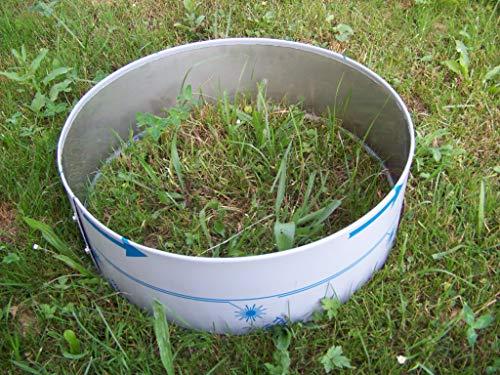 Rasenkante Rund Ring Kreis D60 Höhe 14,6 cm Edelstahl V2A mit Falz