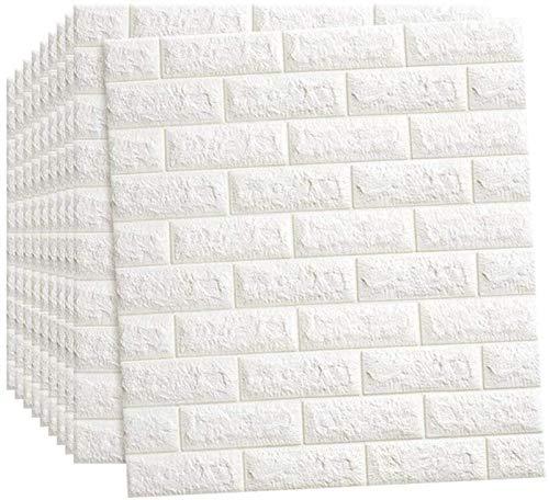 KUNYI 3D Wandaufkleber Self-Adhesive Wandpaneele Wasserdichtes PE-Schaum-Weiß-Bilder for Wohnzimmer TV Wand und Wohnkultur (Color : 15 Piece)