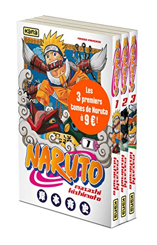 Pack tome 1 + tome 2 + tome 3 de Naruto