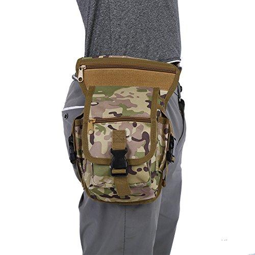 Camouflage Drop Leg Cuisse Packs Tactique Taille Pouch Satchel pour Moto Chasse Équitation