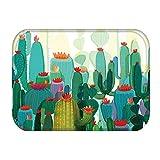 DQLREW Felpudo 3D impresión Cactus Cocina Entrada Antideslizante Puerta Alfombra Alfombra Felpudo Alfombras Interior Coloridas Alfombra Felpudo Alfombra Navidad Año Nuevo Regalo Decor-24x36inch