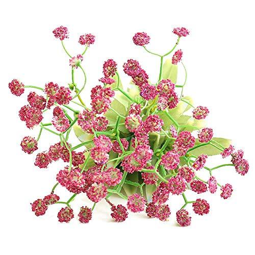 Eternitry Simulación de Flores Artificiales de plástico Falso Estilo rústico Gypsophila Paniculata Bouquet DIY Craft Floral para la Boda Nupcial decoración del hogar Fiesta decoración Bar