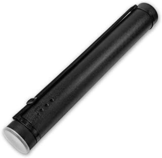 Document Tube,Plastic Expanding Poster/Art/Document Storage Tube 24.5 to 40 inches Adjustable with Carrying Strap Waterproof and Light-Resistance Telescoping Carrying Case (Black)