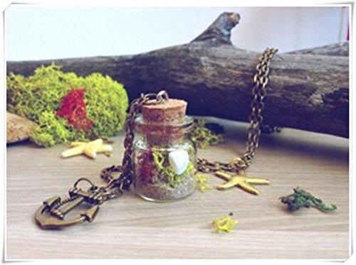 Mar terrario collar, collar de playa Mini terrario, náutico, naturaleza muestra Vial Collar