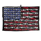 JJCSTE.C Microfiber Golf Towel Military Concept American Flag Sports Gym Towel for Golf, Yoga, Sport, Running, Gym, Workout More Activities