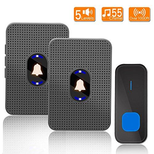 Yvelines IP55 Waterproof Door Chime with Night Light  LED Fl Wireless Doorbell