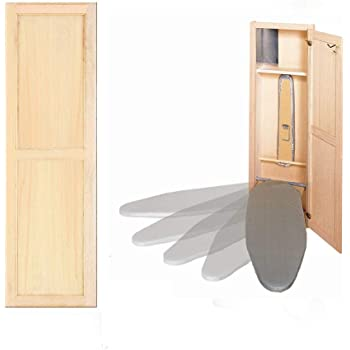 Hideaway Ironing Board Supreme Unfinished Maple with Raised Panel Door