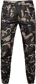 SERYU Drawstring Camo Pants Mens Casual Joggers Camouflage Pocket Trouser