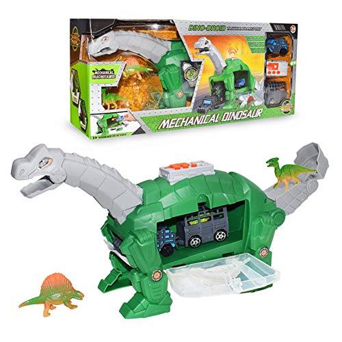 Tragbarer Dinosaurier-Aufbewahrungs-Spielzeugträger Dinosaurier-Aufbewahrungs-Träger Für Dinosaurier Autos Für Kinder - Eingebauter Tragegriff Spielzeugträger Mit Mini-Dinosaurier Und Spielzeug