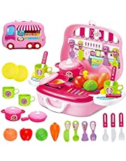 Royals Hub® Little Chef Kitchen Set for Kids in Chef Carry case - Role Play Fun Toys Gift for Boys Girls Age 3 Years and Up (Kitchen Set)