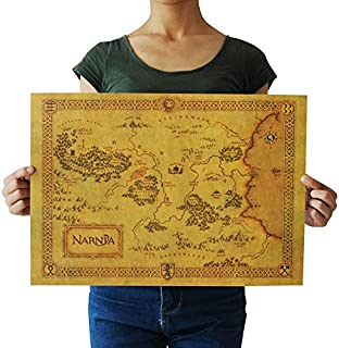 legend NARNIA treasure map kraft paper retro poster home d¨¦cor