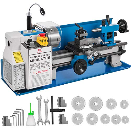 Lowest Prices! BestEquip Metal Lathe 7x14inch Precision Bench Top Mini Metal Lathe 550W Precision Me...