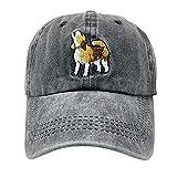 NVJUI JUFOPL Men's & Women's Cute Prideful Beagle Baseball Cap Vintage Washed Funny Dad Hat Black