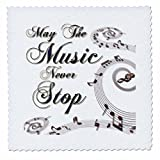 3dRose May Die Musik Never Stop mit Noten, Quilt, Platz,