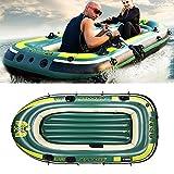 WBJLG 3 Personas, Bote de Goma Inflable automático, Inflable rápido y fácil de Transportar Barco de Pesca Inflable, Seguro y Resistente al Desgaste
