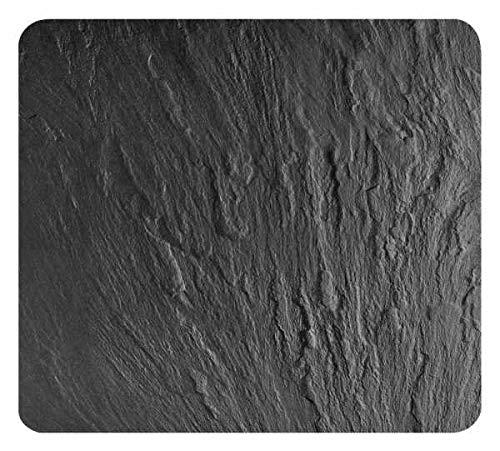 WENKO Plaque Multi-usage Ardoise - pour plaques de cuisson vitrocéramiques, planche à découper, Verre trempé, 56 x 0.5 x 50 cm, Noir