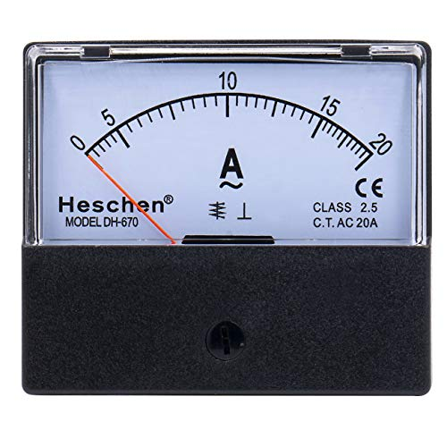 Heschen Rechteckiger Stromzähler, Amperemeter, DH-670, AC 0–20 A, Klasse 2,5, CE-gelistet