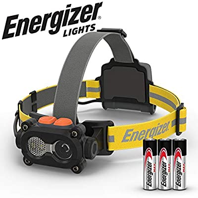 Energizer Tactical LED Headlamp Flashlight, High Lumens LED Headlight, IPX4 Waterproof, Tactical Flashlight Head Lamp for Camping, Hiking, Running, Hurricane Supplies