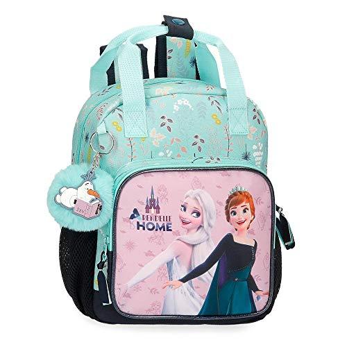 Disney Frozen Arendelle is Home Mochila Preescolar adaptable Azul 23x28x10 cms Poliéster 6,44L