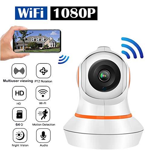Full HD 1080P Auto Tracking PTZ Kamera,Wlan IP Kamera Outdoor WiFi, Zwei-Wege-Audio Motion Alarm überwachungskameras,10 M Nachtsichtfunktion,CCTV Home Surveillance Kamera (EU)