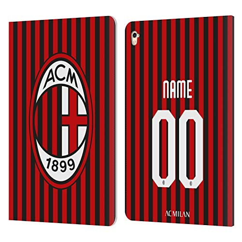 Custom Customised Personalised AC Milan Home 2019/20 Kit Leather Book Wallet Case Cover Compatible For Apple iPad Pro 9.7 (2016)