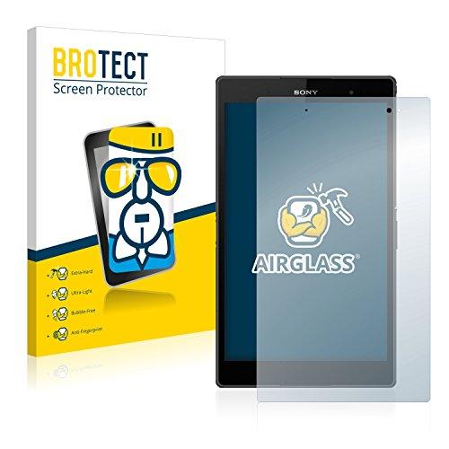 BROTECT Panzerglas Schutzfolie kompatibel mit Sony Xperia Z3 Tablet Compact SGP611, SGP612 - AirGlass, 9H Härte, Anti-Fingerprint, HD-Clear