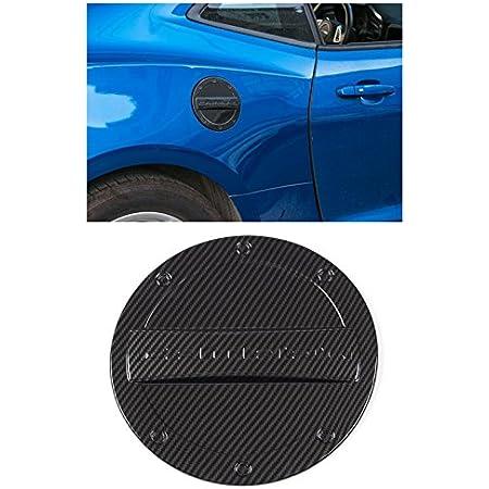 FMtoppeak 5 Colors Exterior Fuel Tank Cover Gas Lid Cap Accessories ABS Compatible with Chevrolet Camaro 2016 Up (Carbon Fiber)