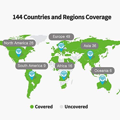 GlocalMe U2S 4G LTE Mobiler WLAN Router, 4G LTE Router mit 1GB globalen Daten, Keine SIM-Karte nötig, Benutzerfreundliche App, Internationaler Hotspot für 144 Länder (Grey)
