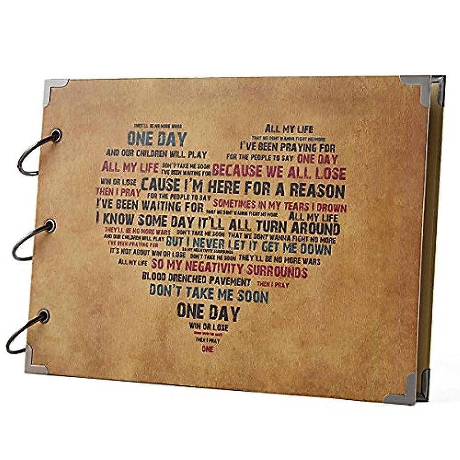 FaCraft Scrapbook 10.5x7.5inch Forever Love Vintage Scrapbooking DIY Photo Albums (Heart,Brown)