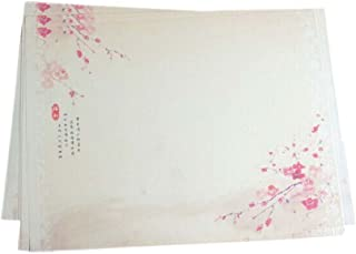 16Pcs Retro Chinese Style Plum Flower Kraft Paper Stationery Calligraphy Writing Papers